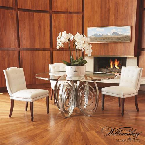 Weathervane Dining Table-Nickel
