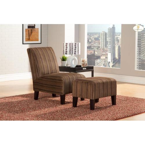 Accent Chair & Ottoman Chair 24 x 32.5 x 35.5H Ottoman 23.5 x 16 x 18H