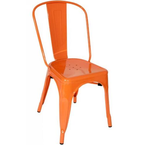Modrest Elan - Modern Orange Metal Side Chair