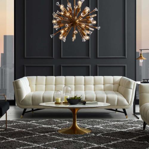 Modway - Adept Performance Velvet Sofa in Ivory