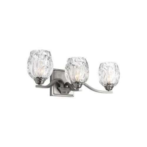 Kalli 3 - Light Vanity Satin Nickel Bulbs Inc