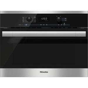 MieleM 6160 TC - Built-in microwave oven with controls along the top for optimal combination possibilities.