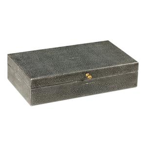 Gatsburg Shagreen Box, Antique Grey