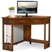 See Details - Rustic Oak & Slate Corner Computer/Writing Desk #89430