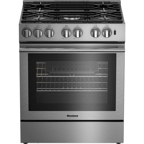 Blomberg Appliances - 30in Dual Fuel 5 burner range, slide-in style