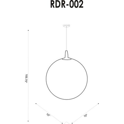 "Rondure RDR-002 9.25""H x 10""W x 10""D"