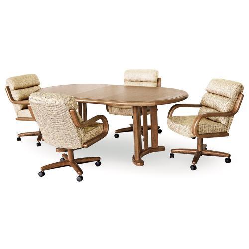 Gallery - Table Base: Twin Legs (chestnut)
