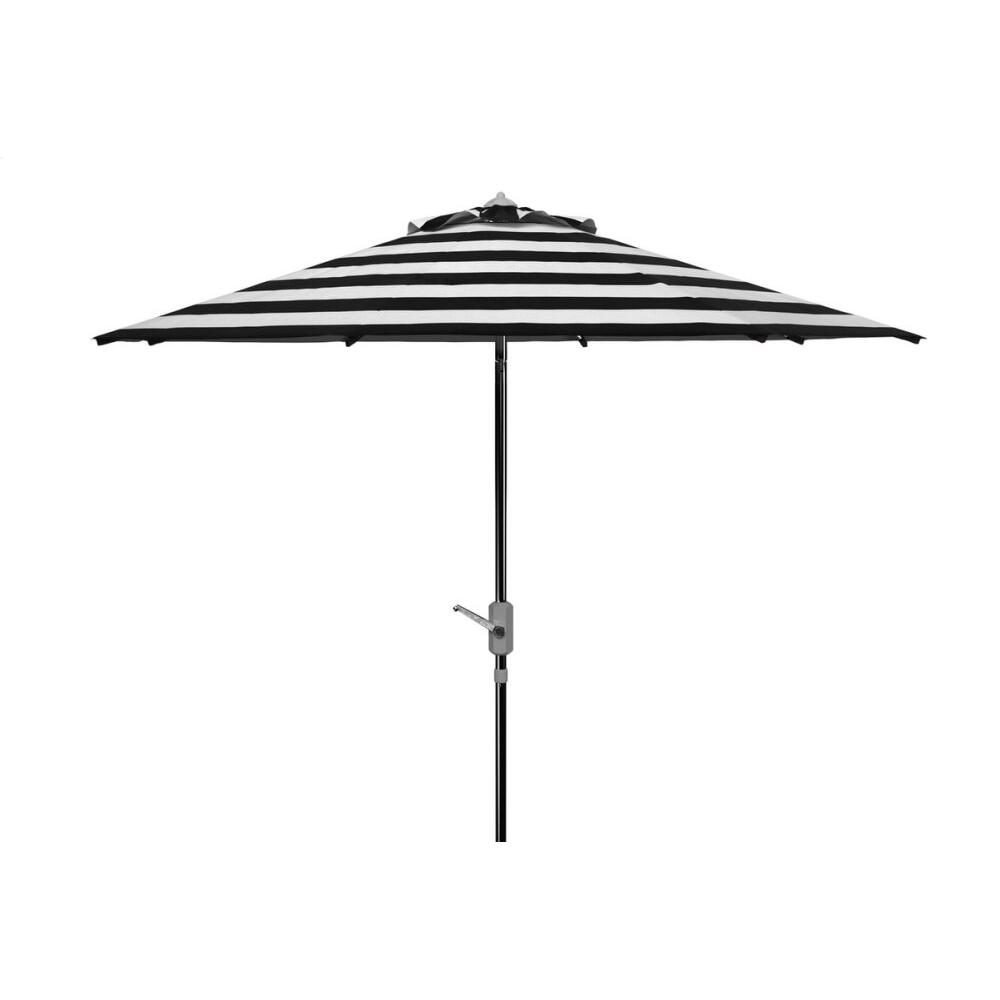 Uv Resistant Iris Fashion Line 9ft Auto Tilt Umbrella - Black / White