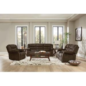 Ridgecrest Manual Motion Reclining Sofa, Brown