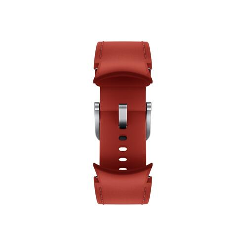 Samsung - Galaxy Watch4, Galaxy Watch4 Classic Hybrid Leather Band, S/M, Red