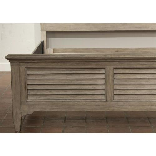 Myra - Full/queen Louver Headboard - Natural Finish