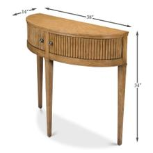 See Details - Mezzo Console Table, Heather Grey