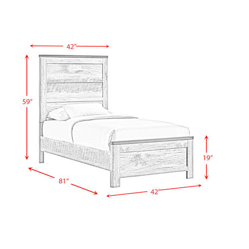 Elements - Millers Cove Twin Panel Bed