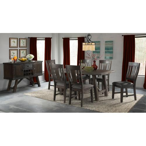 Cash Dining Set - Table, Bench, and 4 Chairs