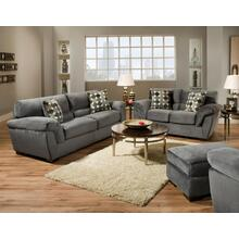 Rhino-charcoal Loveseat 3852