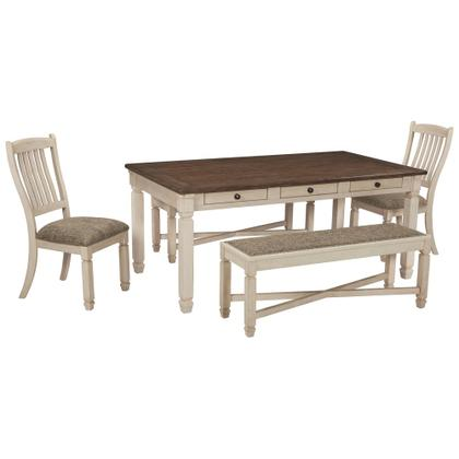 See Details - Dining Table and 2 Chairs and 2 Benches