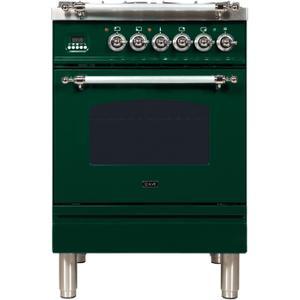 24 Inch Emerald Green Dual Fuel Natural Gas Freestanding Range