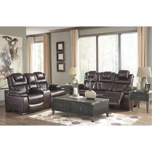 Warnerton Power Reclining Loveseat With Console