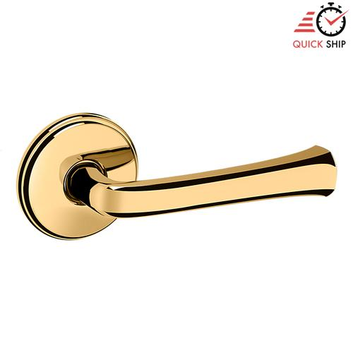 Baldwin - Lifetime Polished Brass 5112 Estate Lever with 5075 Rose