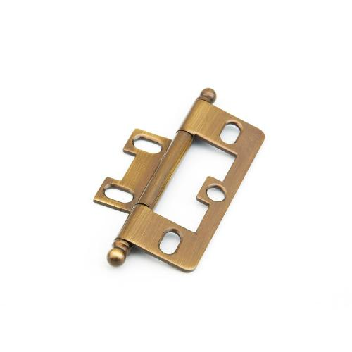Solid Brass, Hinge, Ball Tip Non-Mortise, Antique Brass finish