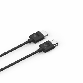 Black- HDMI Cable connects to your TV's HDMI ARC input.