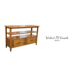 Birch with Walnut TV Console