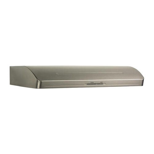 "Broan Elite 600 CFM Internal Blower, 36"" wide Undercabinet Mount Range Hood in Stainless Steel"