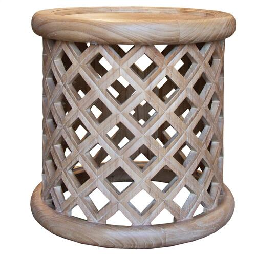 Capris Furniture - Lamp Table, Available in Coastal Brown or Coastal Grey Finish.