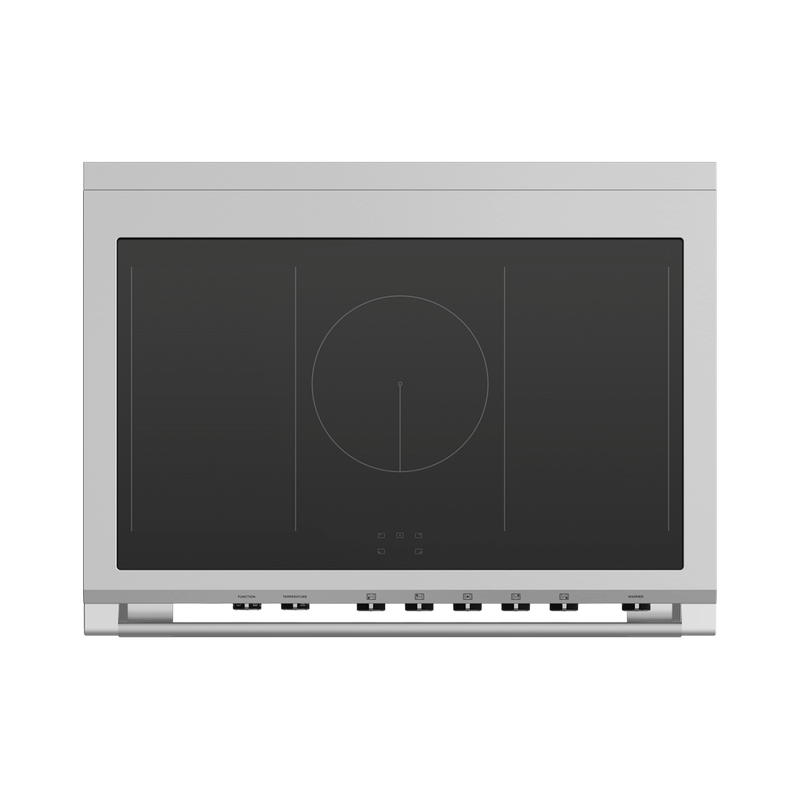 """Induction Range, 36"""", 5 Zones with SmartZone, Self-cleaning"""