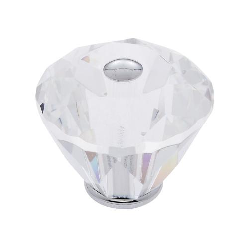 Polished Chrome 40 mm Diamond Cut Knob