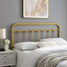 Sage Queen Metal Headboard in Gold