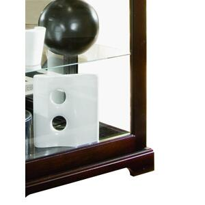 Pulaski Furniture - Tall 5 Shelf Curio Cabinet-Sliding Door in Cherry Brown