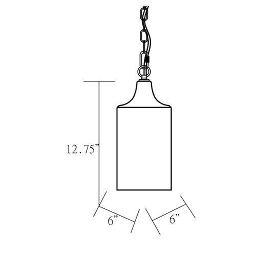 """Ormond ORM-003 12.75""""H x 6""""W x 6""""D"""