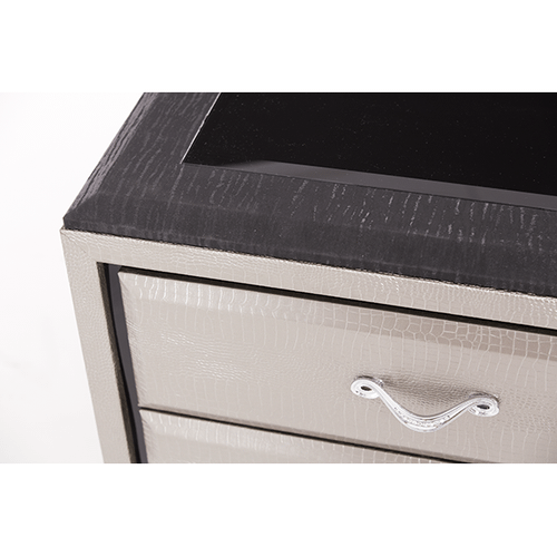 After Eight Titanium Nightstand
