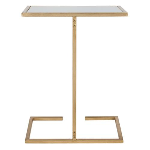 Neil Gold Leaf Accent Table - Gold / Black