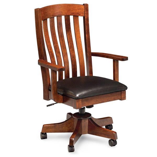 See Details - Bradford Arm Desk Chair, Fabric Cushion Seat
