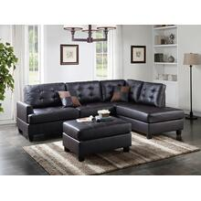 Gerhard 3pc Sectional Sofa Set, Espresso-faux-leather