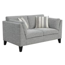 Loveseat W/2 Accent Pillows-gray