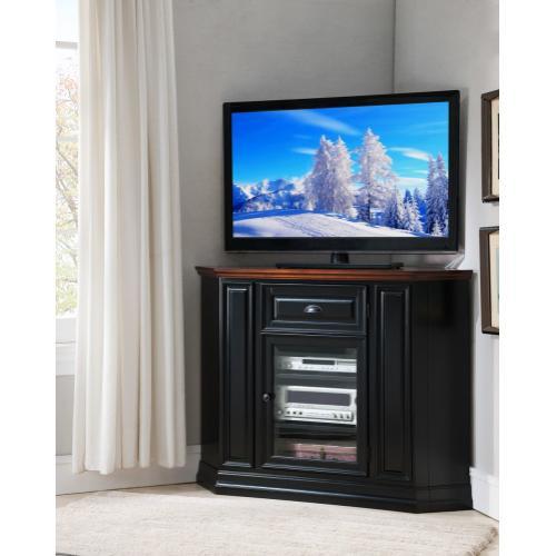 "Gallery - Black Cherry 46"" Corner TV Console #87232"