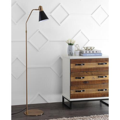 Grania Floor Lamp - Black / Brass Gold