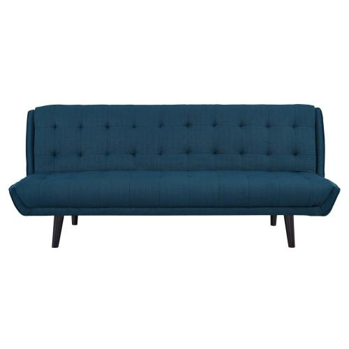 Modway - Glance Tufted Convertible Fabric Sofa Bed in Azure