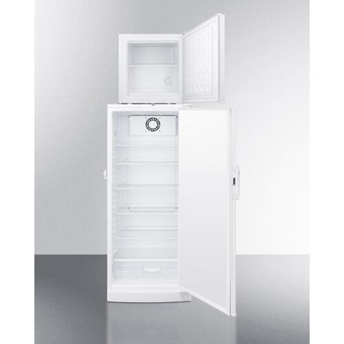 "Compact Fs24lmed All-freezer Stacked On Full-size Auto Defrost Ffar10med All-refrigerator, 24"" Footprint With Temperature Alarms"