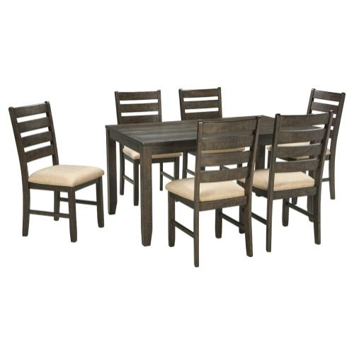 Rokane Dining Table and Chairs (set of 7)