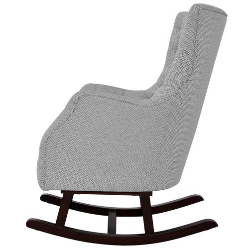 Abigail KD Fabric Tufted Rocking Arm Chair, Cardiff Gray