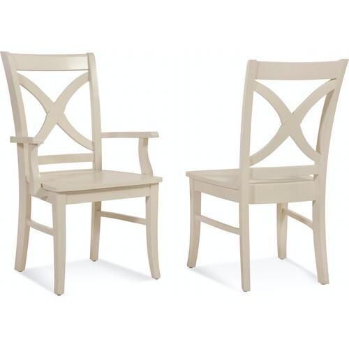 Gallery - Hues Dining Arm Chair with Wood Seat