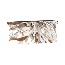 See Details - Teak Console Table Bleached