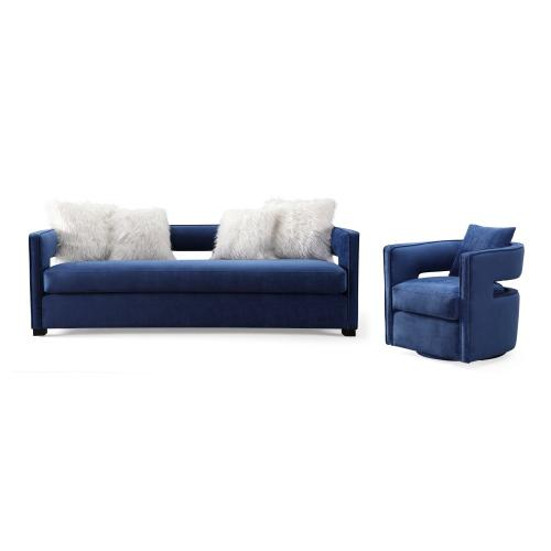 Product Image - Kennedy Navy Swivel Chair