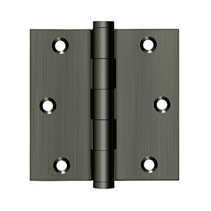 """Deltana - 3-1/2"""" x 3-1/2"""" Square Hinge - Antique Nickel"""