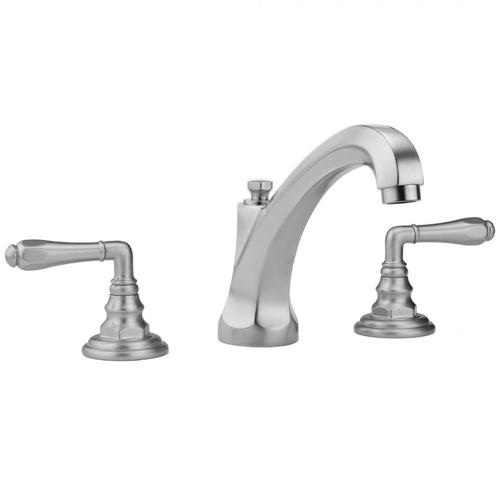 Jaclo - Polished Chrome - Westfield High Profile Faucet with Smooth Lever Handles & Fully Polished & Plated Pop-Up Drain