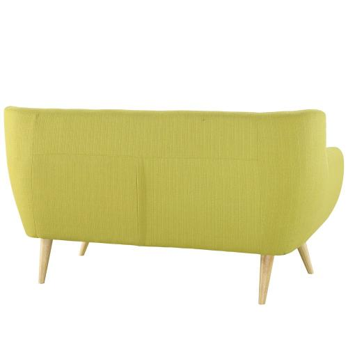 Remark Upholstered Fabric Loveseat in Wheatgrass